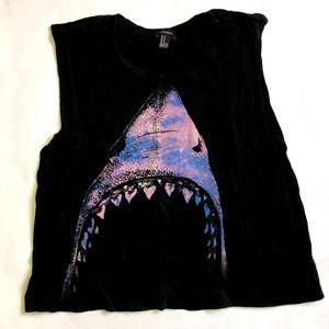 Forever 21 Shark Crop Tee